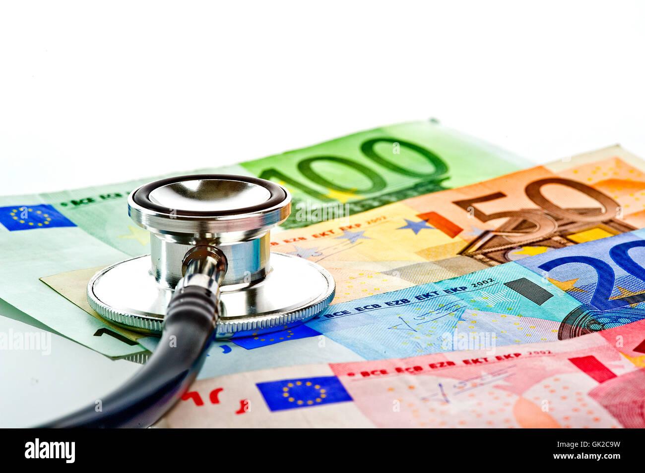 euro cost health care Stock Photo