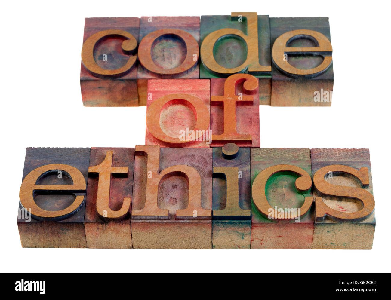 code moral ethics - Stock Image