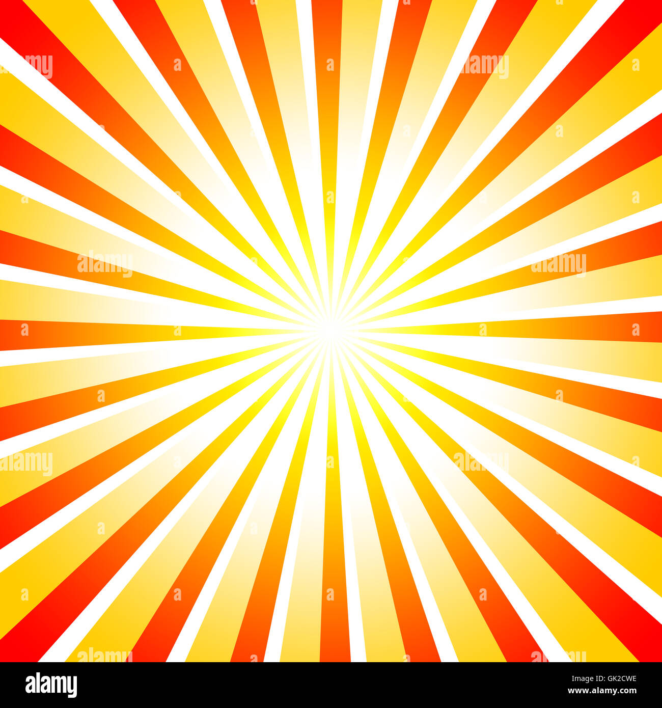 abstract sun rays red orange - Stock Image