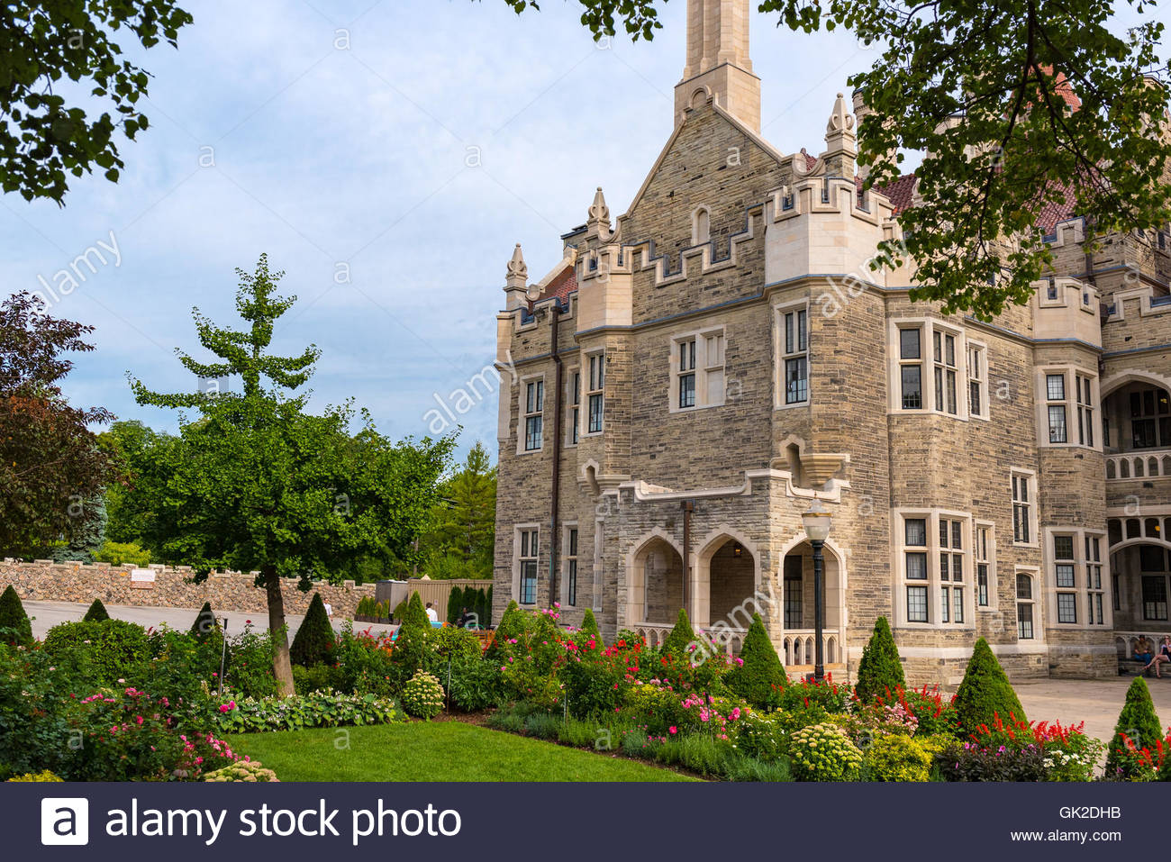 Casa Loma: Vintage Beautiful Castle Architecture Exterior Design. The  Mansion Is One Of The Most Visited Landmarks Of Toronto.