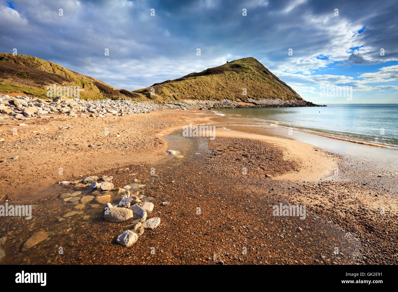 Worbarrow Tout on the Isle of Purbeck, Dorset - Stock Image
