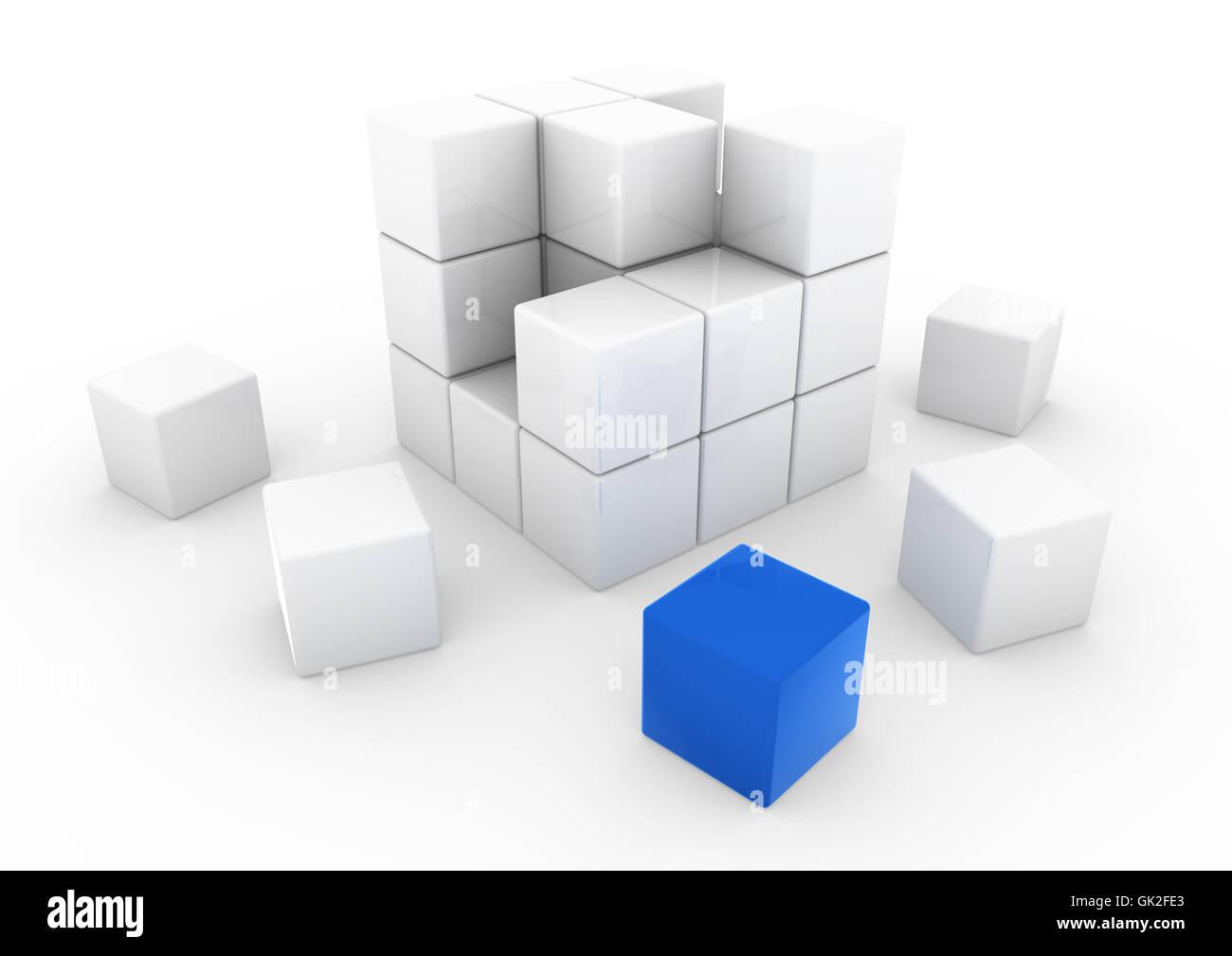 blue blank european - Stock Image