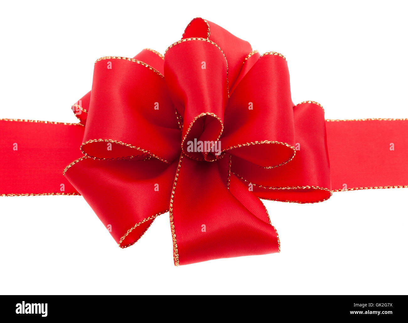 red bow against white background Stock Photo