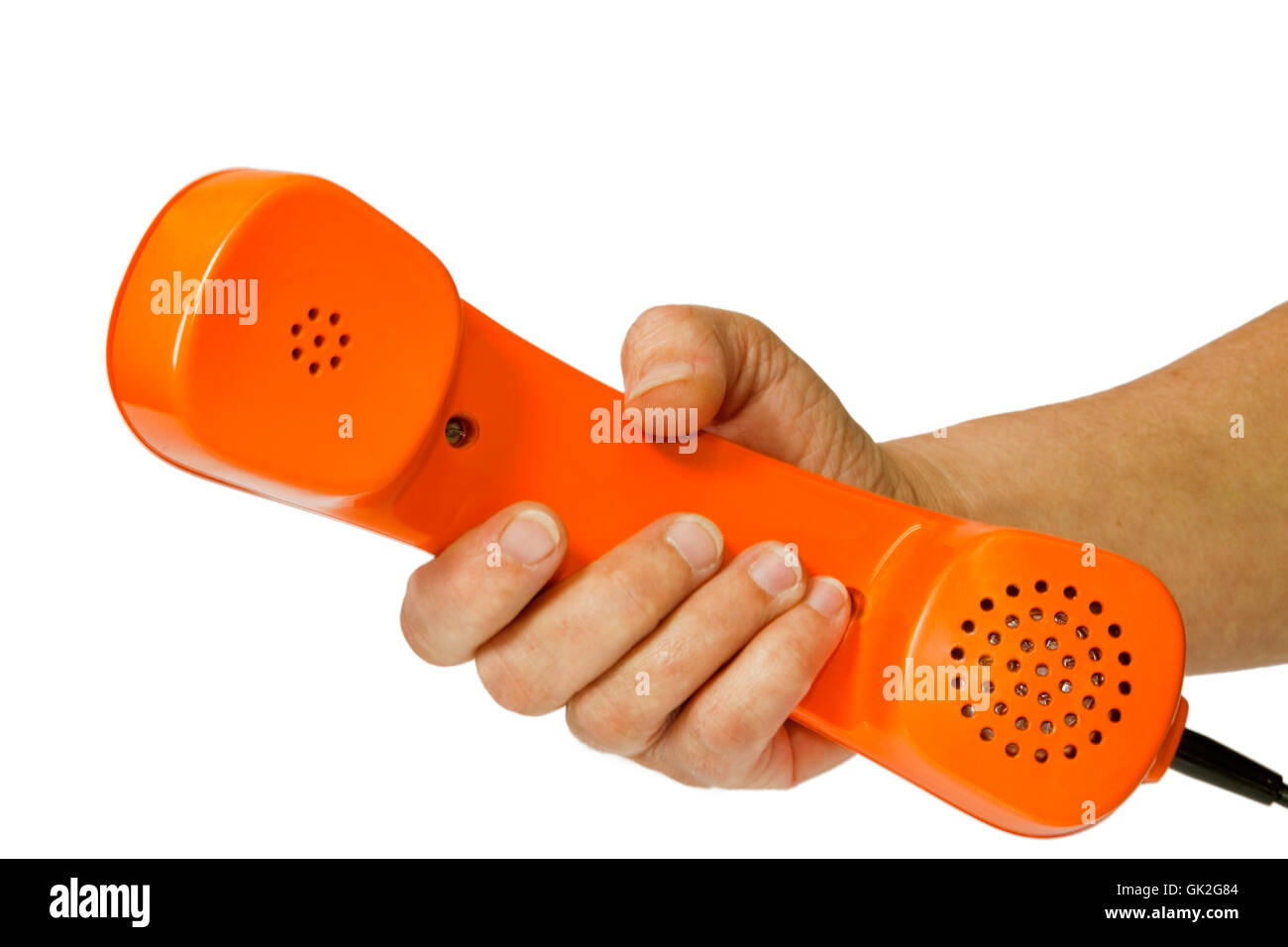 telephone phone telephone receiver - Stock Image