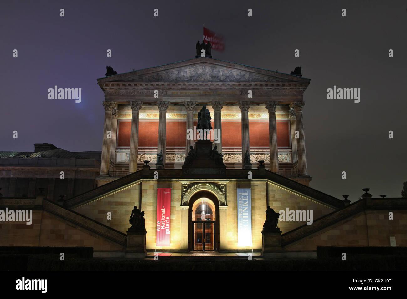 art long-term exposure berlin Stock Photo