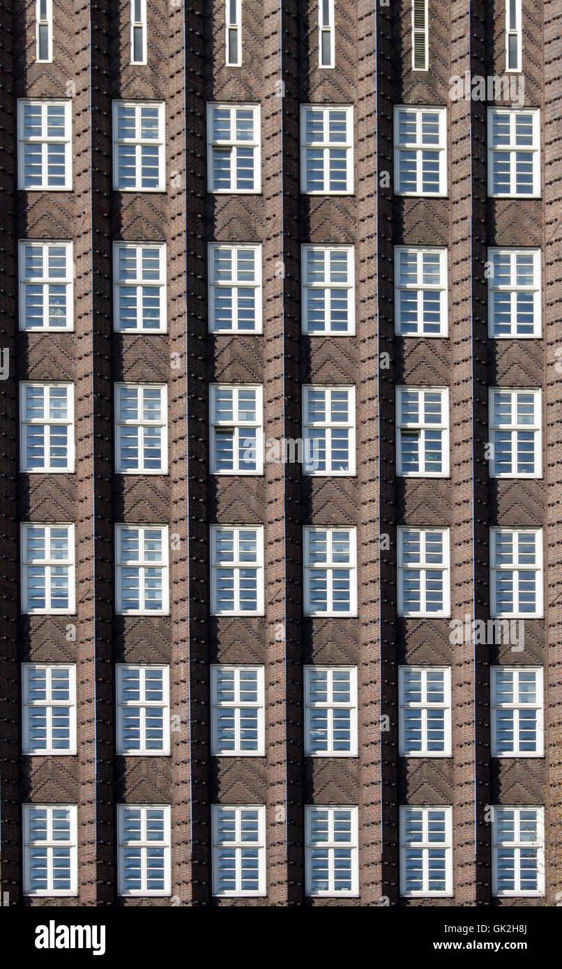 facade - anzeiger hochhaus,hannover - Stock Image