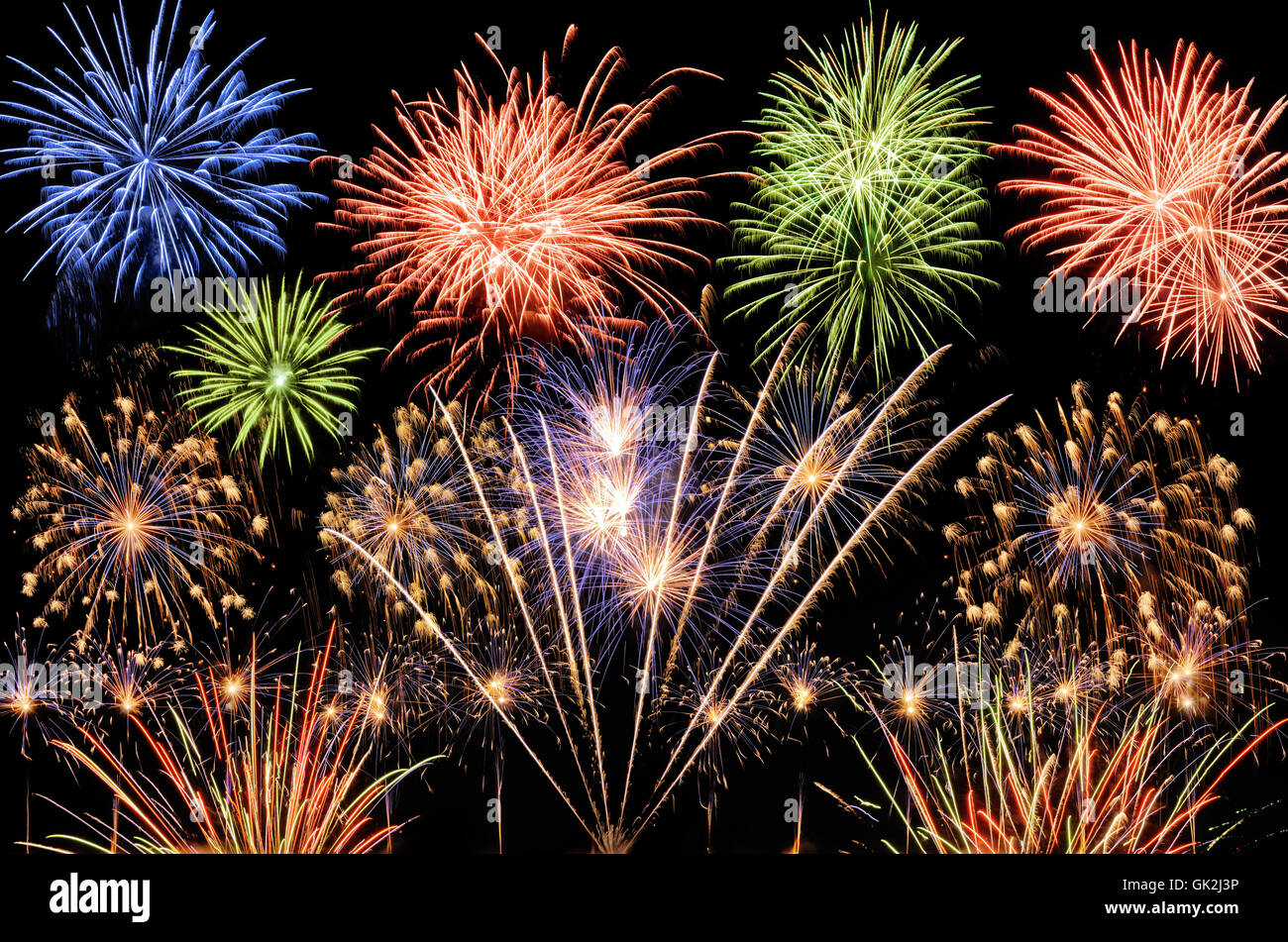 fireworks spectacle - Stock Image