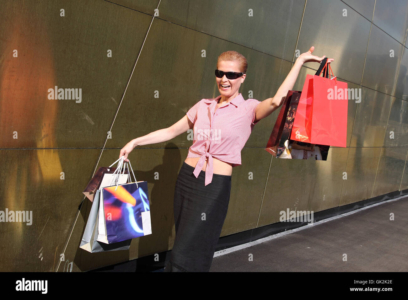 woman shopping communicate - Stock Image