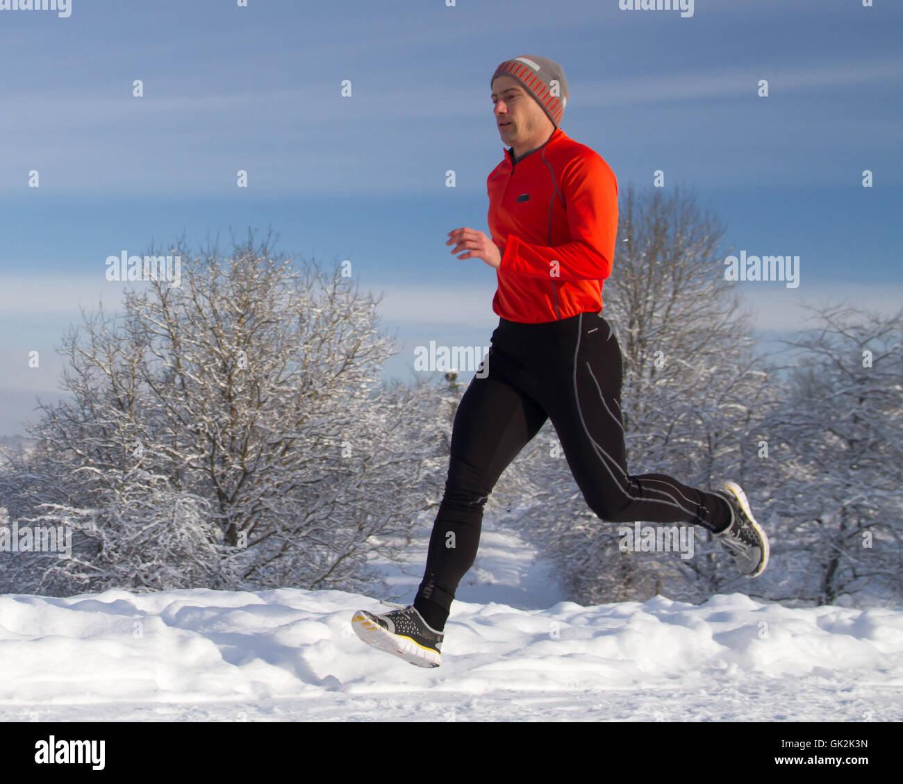 winter active sport - Stock Image