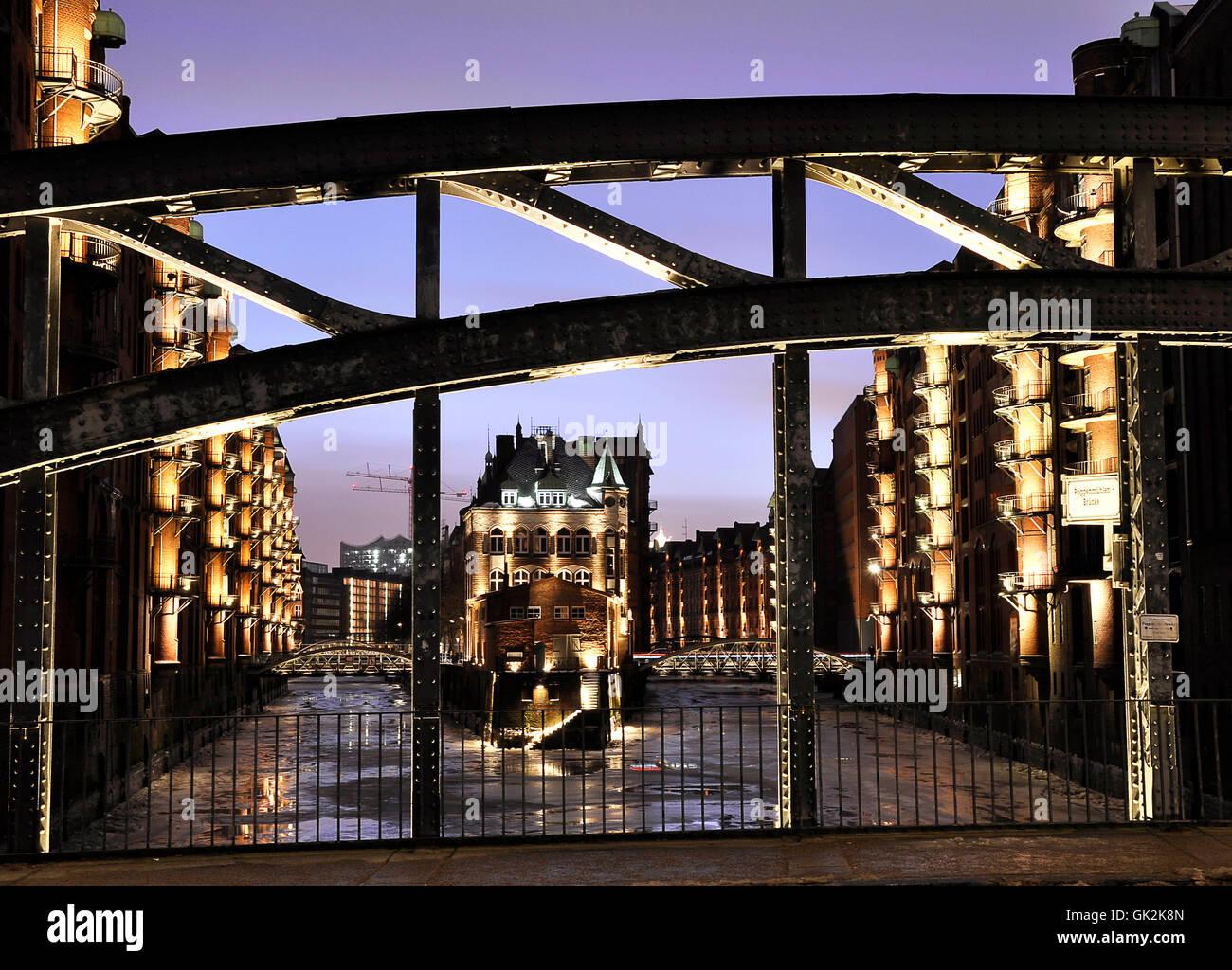hamburg memory city historical - Stock Image