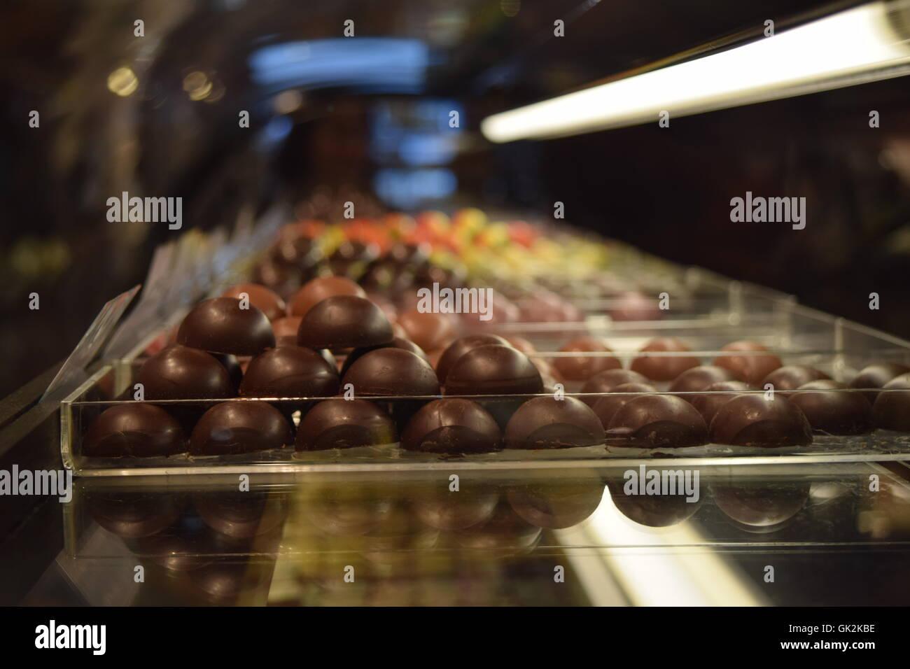 Chocolate Display - Stock Image