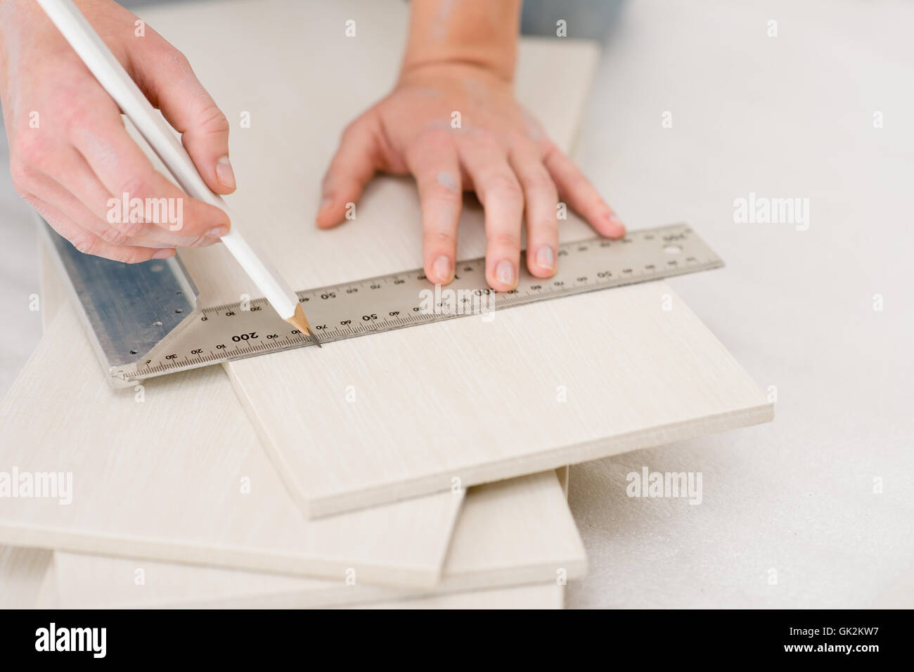 overhaul renovation professional Stock Photo