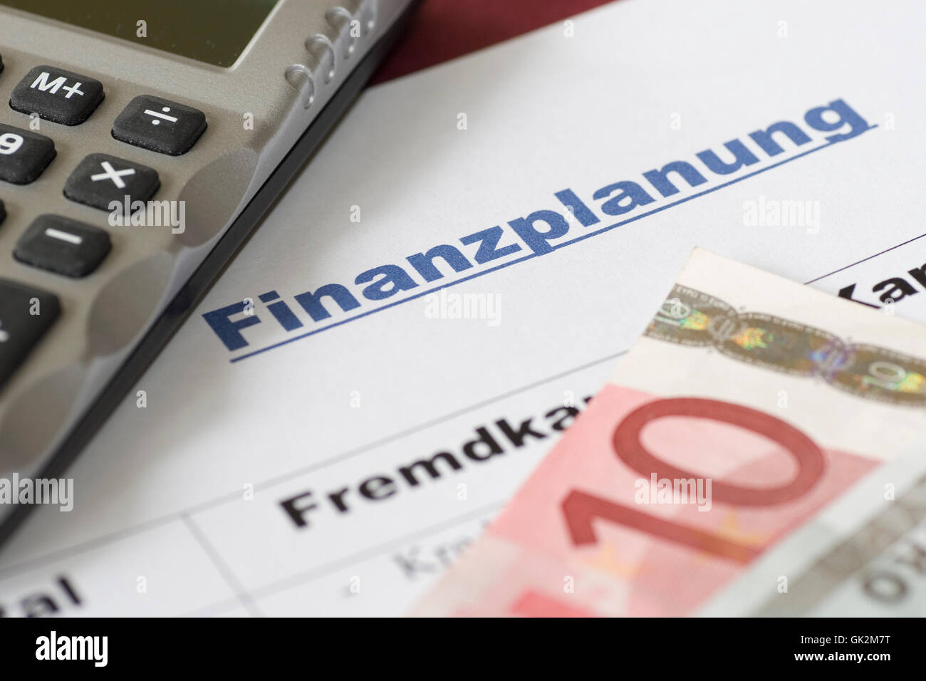 budgetary accounting independent funds - Stock Image
