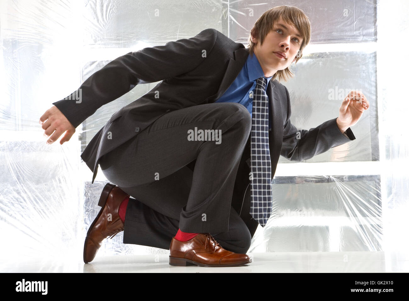 blue fashion dynamics - Stock Image