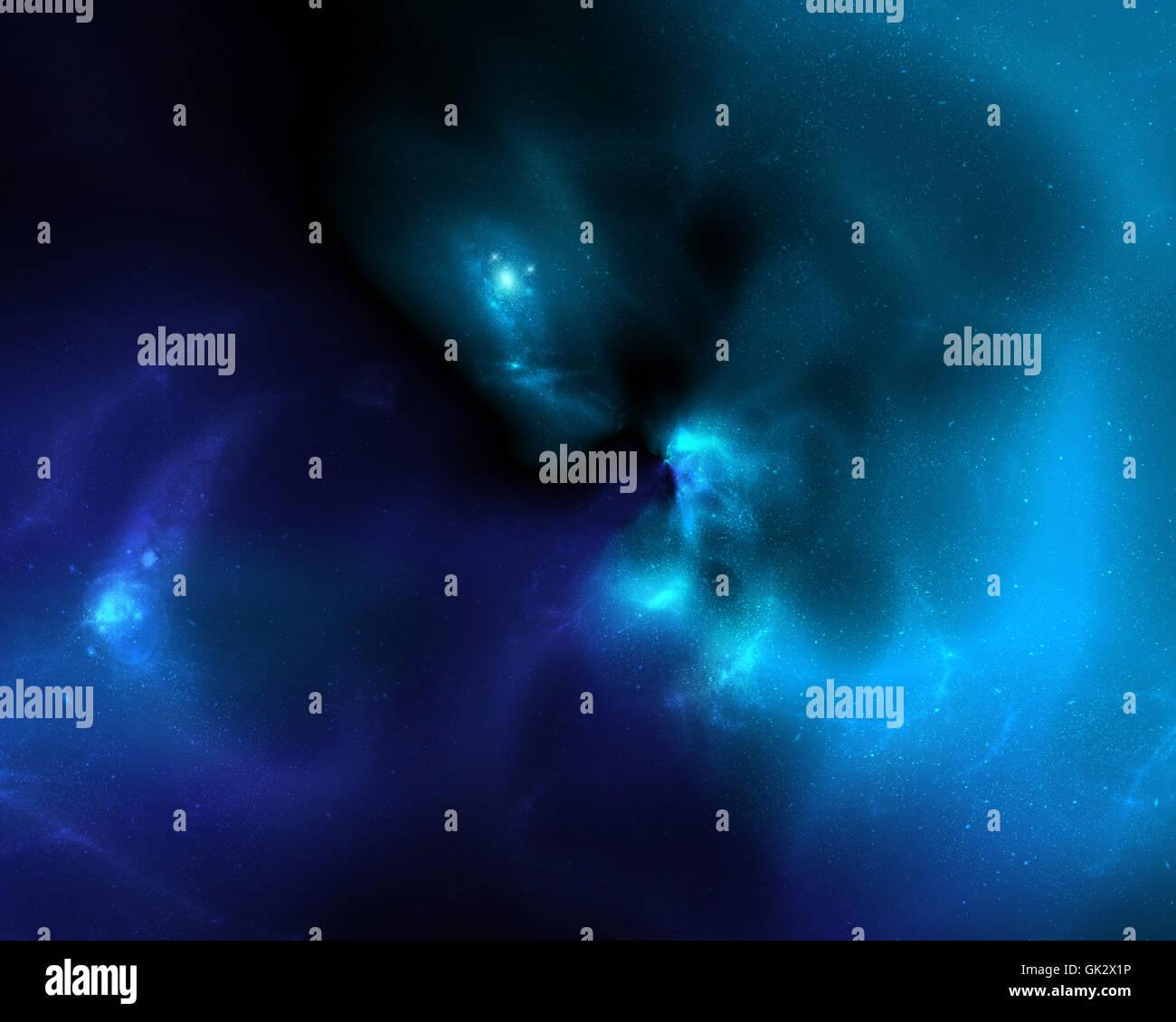 space science night - Stock Image