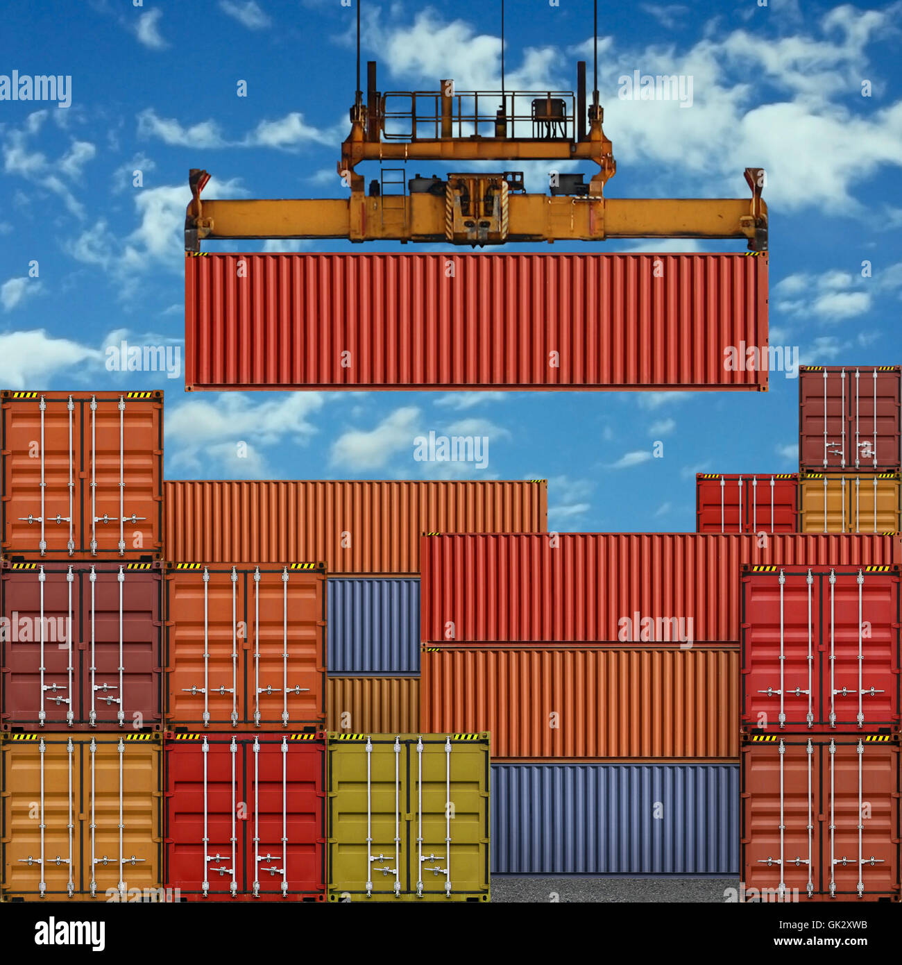 container freight shipping - Stock Image