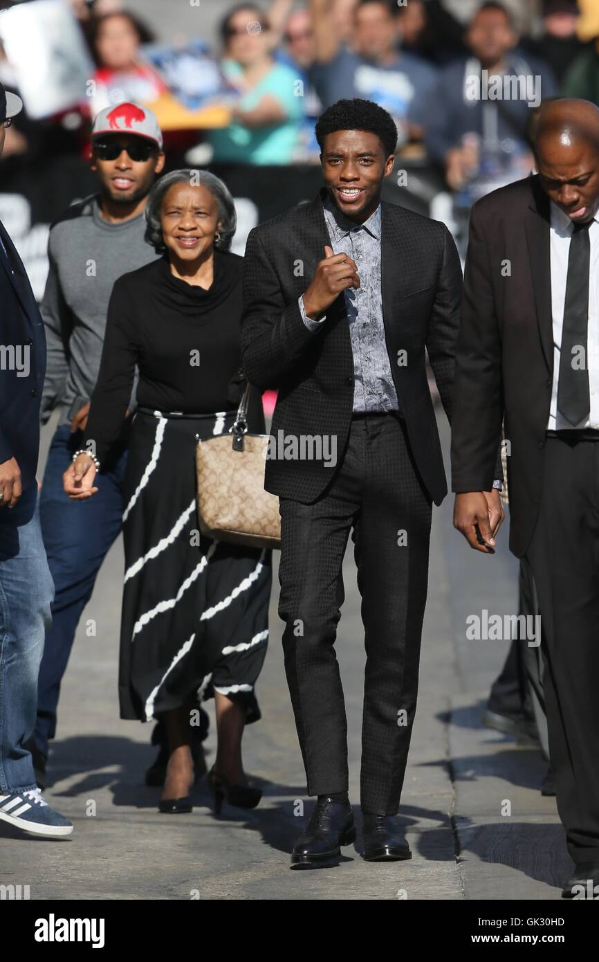 Chadwick Boseman Seen Arriving To The Abc Studios With His Family Stock Photo Alamy