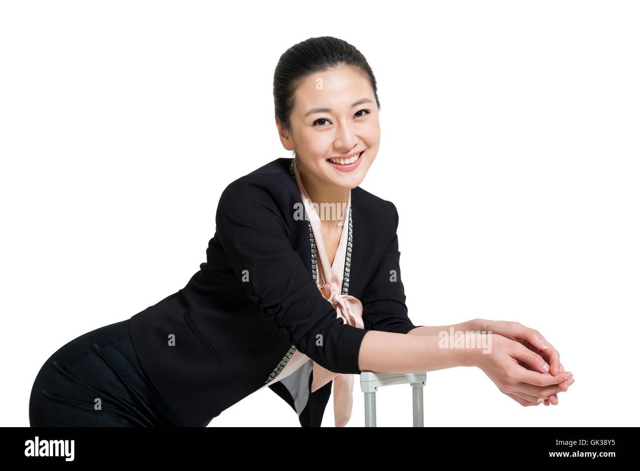 Ms. studio shot Business Travel - Stock Image