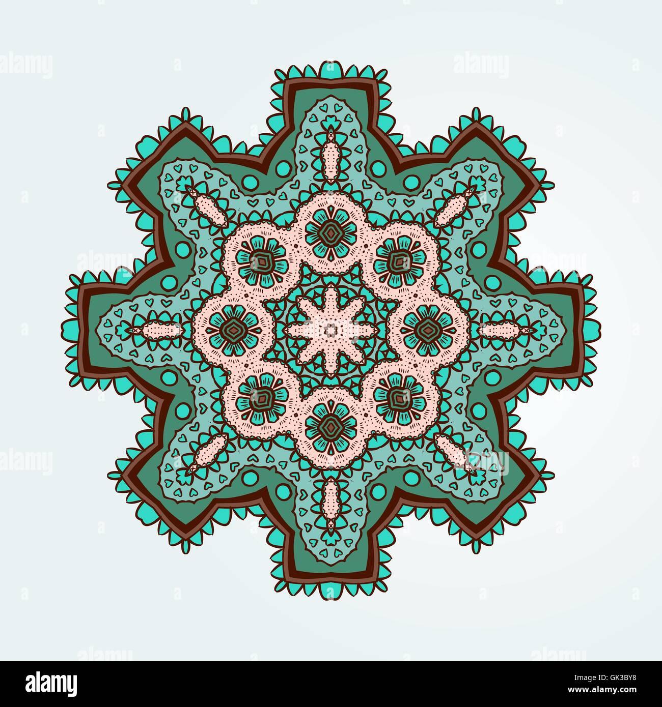 Buddhist Philosophy Mandala Colored Lotus Pattern On The Background Yoga Asanas And Meditation Indian Knowledge Asian