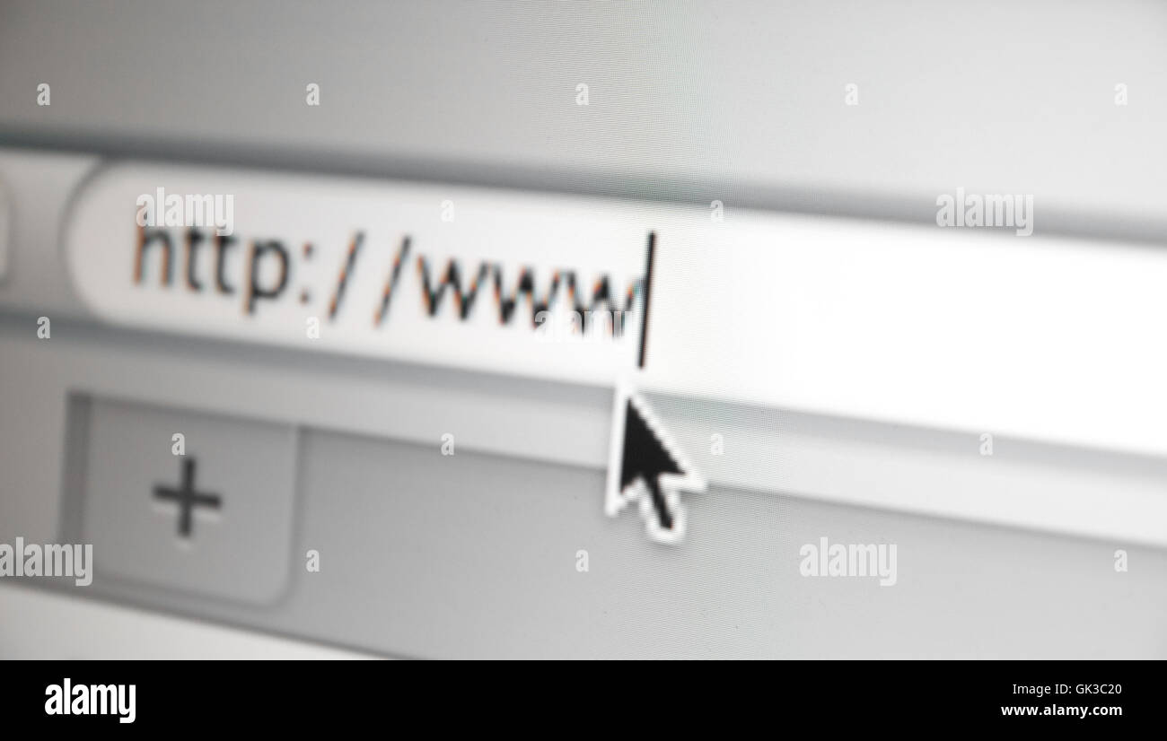 url in browser - Stock Image