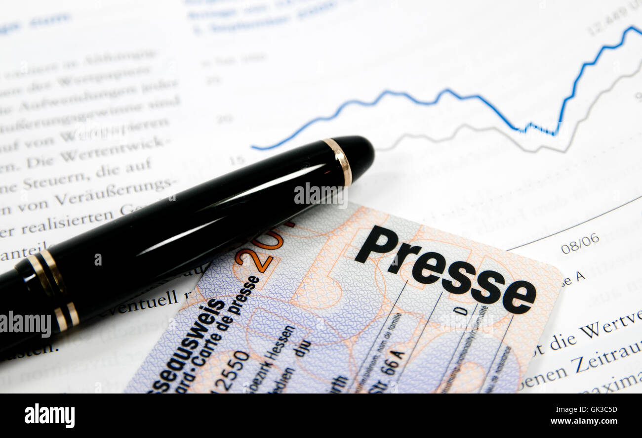 press daily press coverage - Stock Image