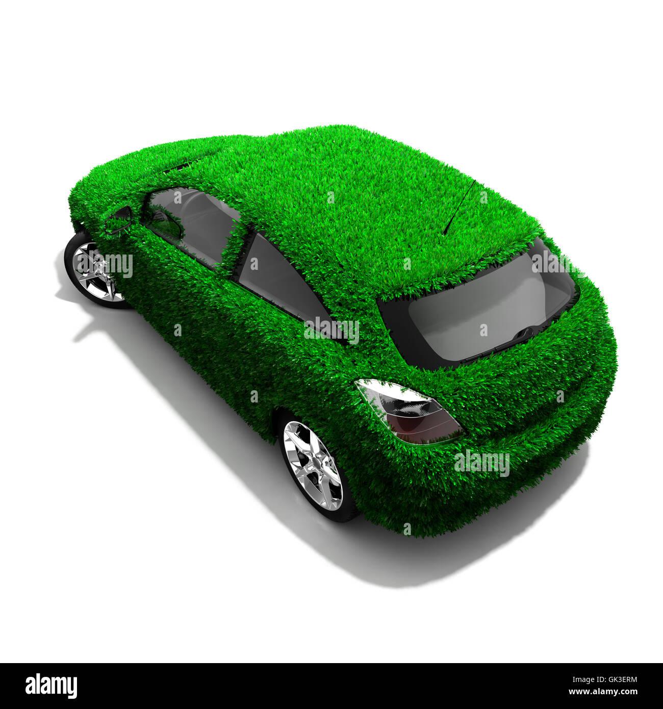 eco isolated model - Stock Image