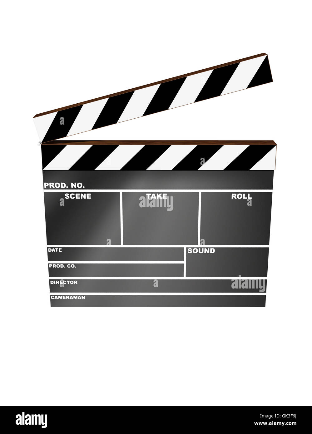 industry clapper film - Stock Image