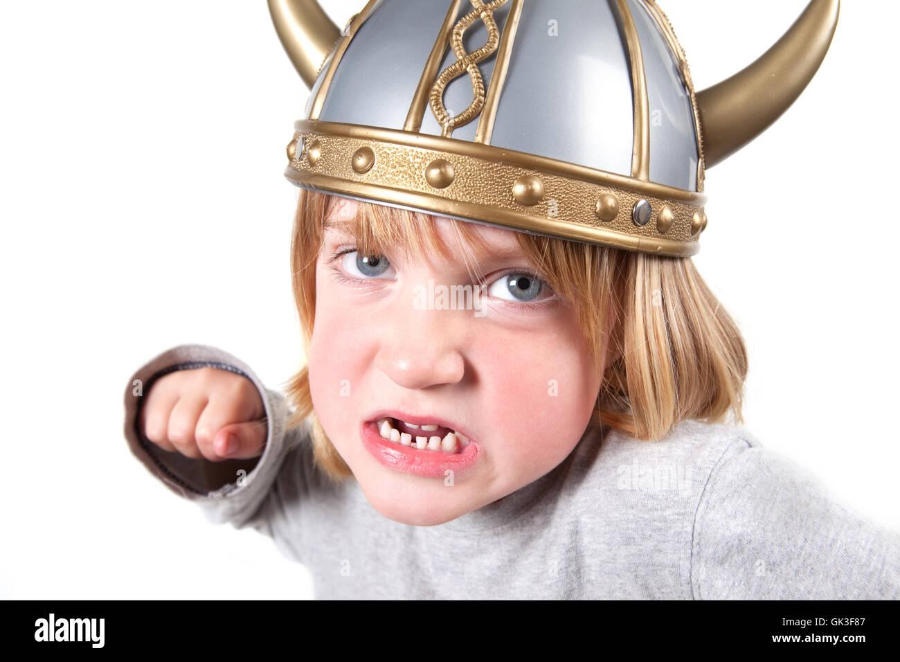 costume viking aggression - Stock Image