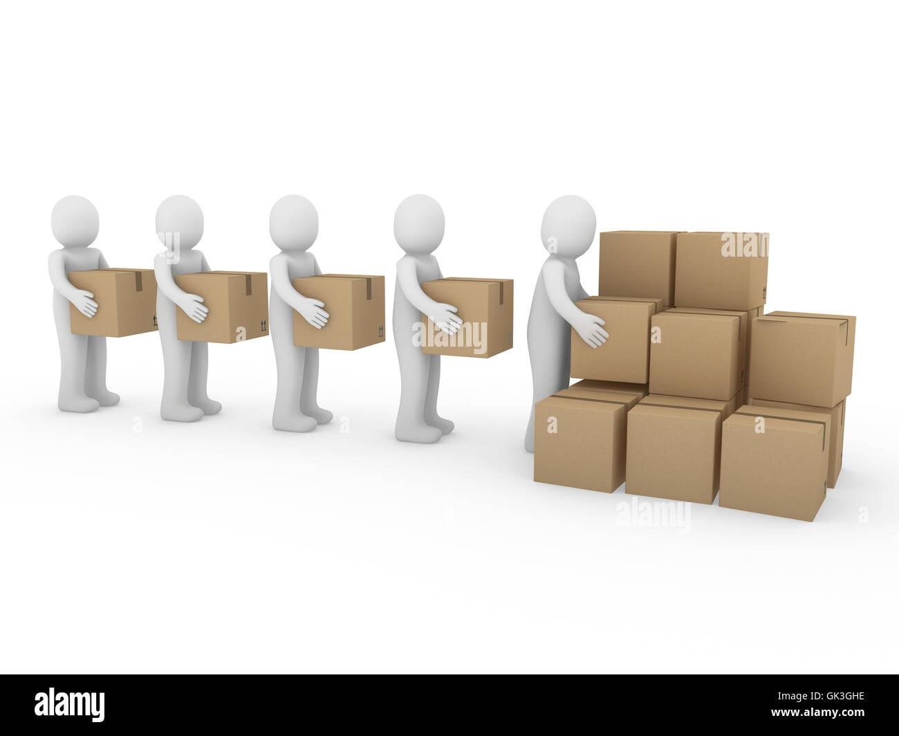 human human being transport - Stock Image