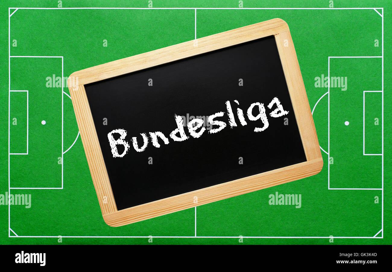 football - konzept tafel - Stock Image