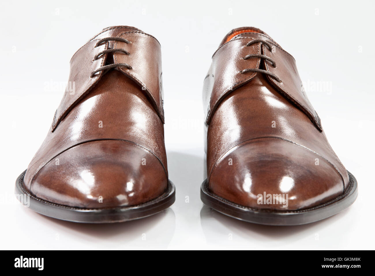 mens leather shoes - Stock Image