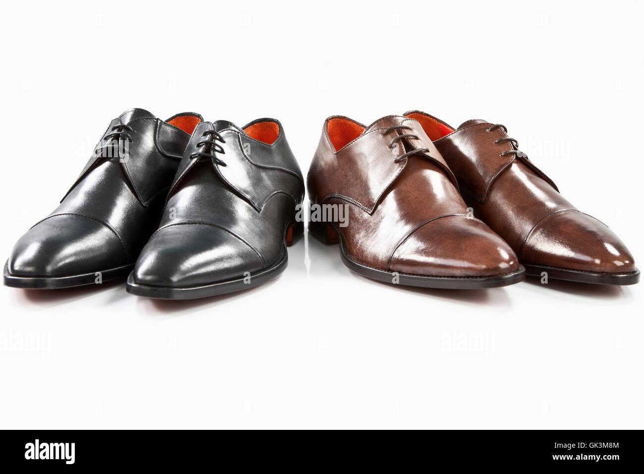 fashion leather man - Stock Image