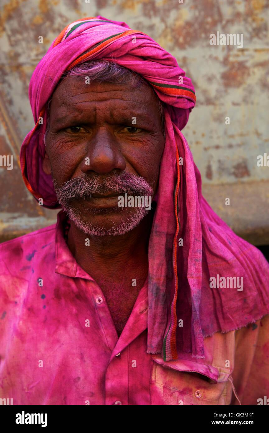 North-Central India, India --- Peanut vendor during Holi festival, Bihar, India --- Image by © Jeremy Horner - Stock Image