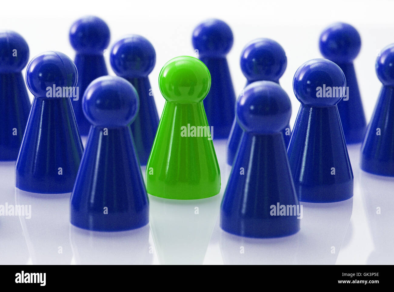 team with leader concept - bluegreen - Stock Image