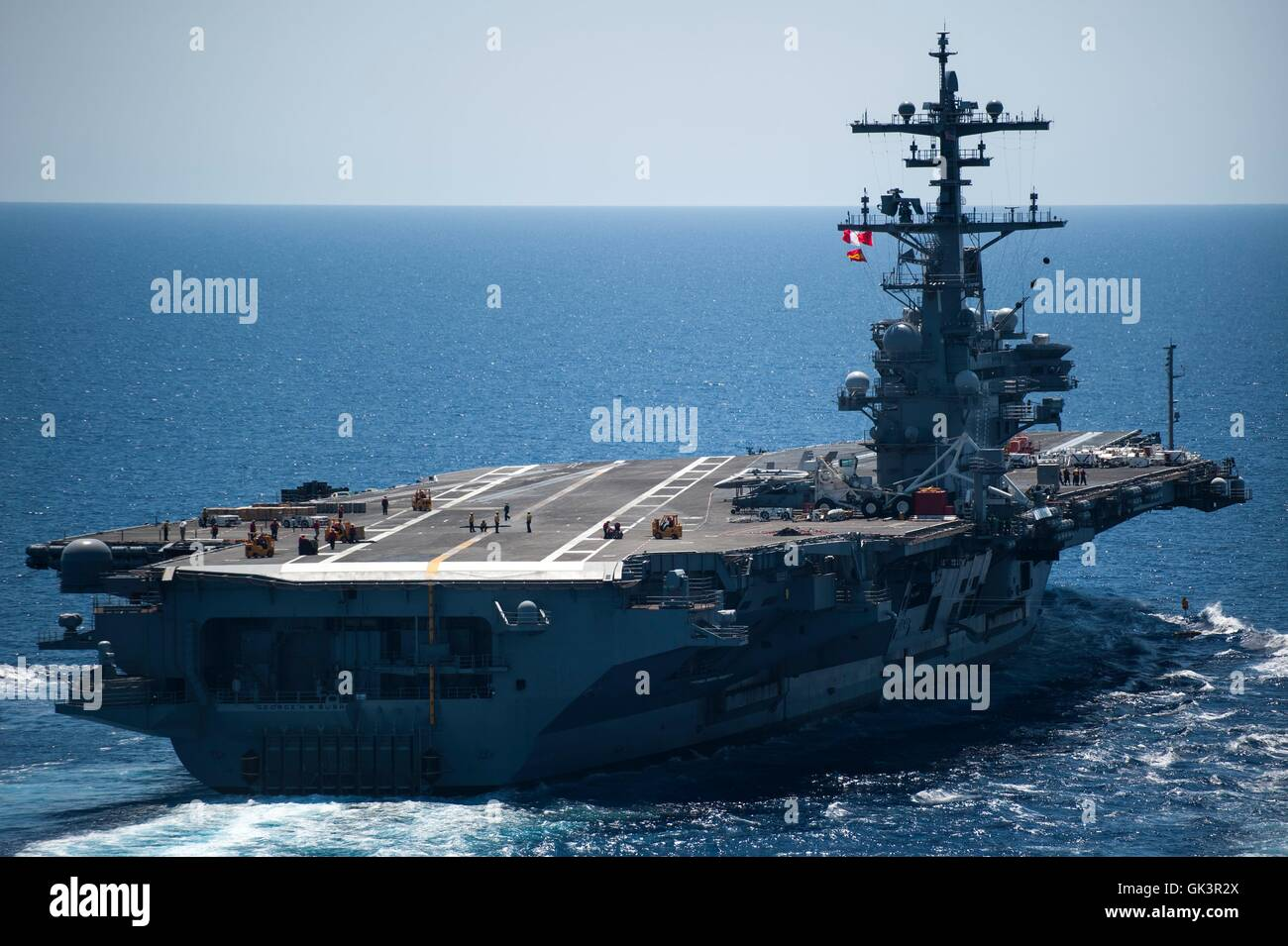 Us Navy Nuclear Aircraft Carrier Uss George H W Bush Underway Stock