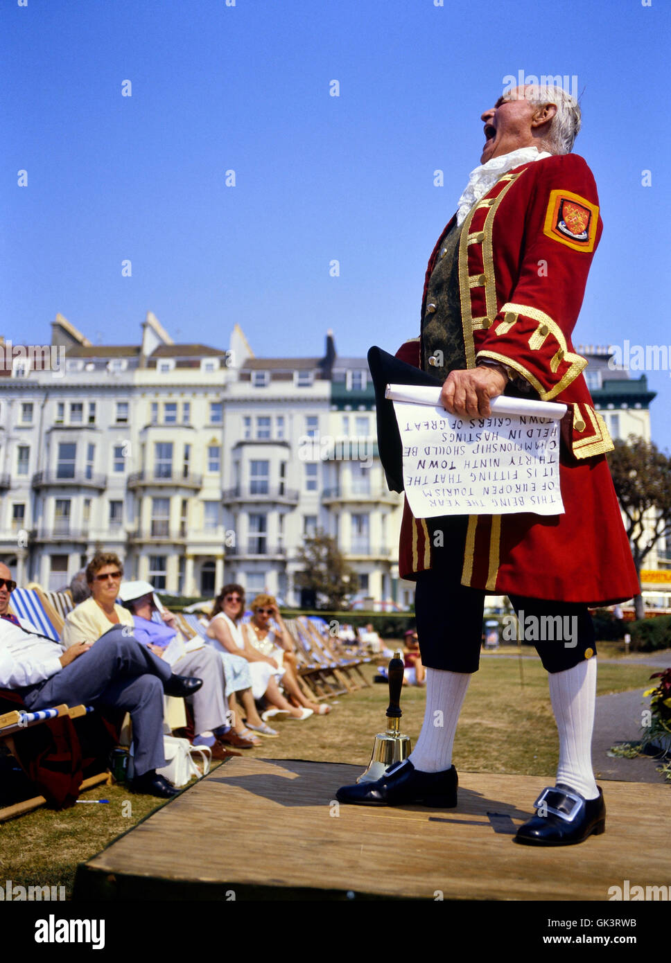 National Town Crier Championships at Hastings. East Sussex. England. UK - Stock Image