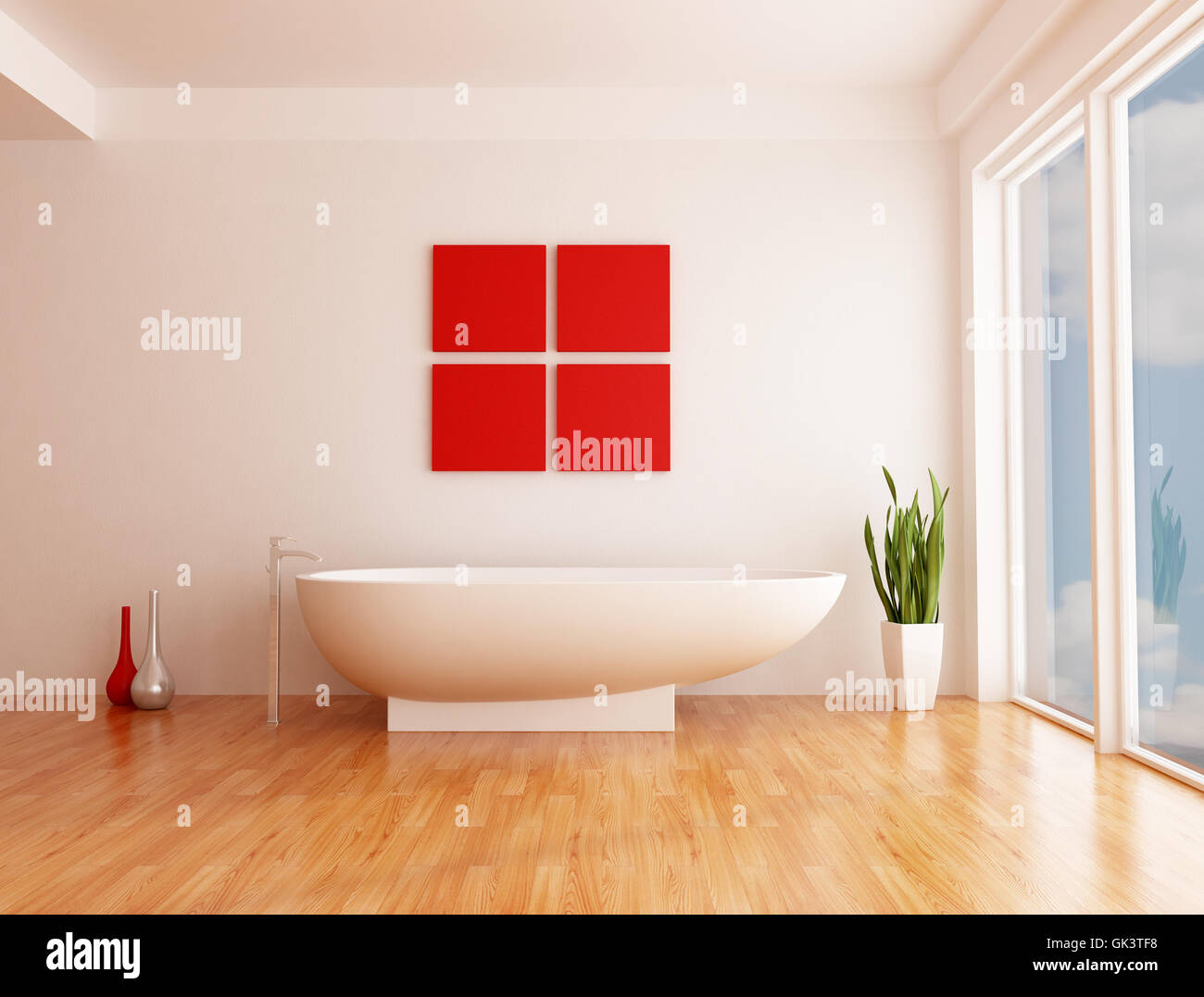 furniture interior bath tub - Stock Image