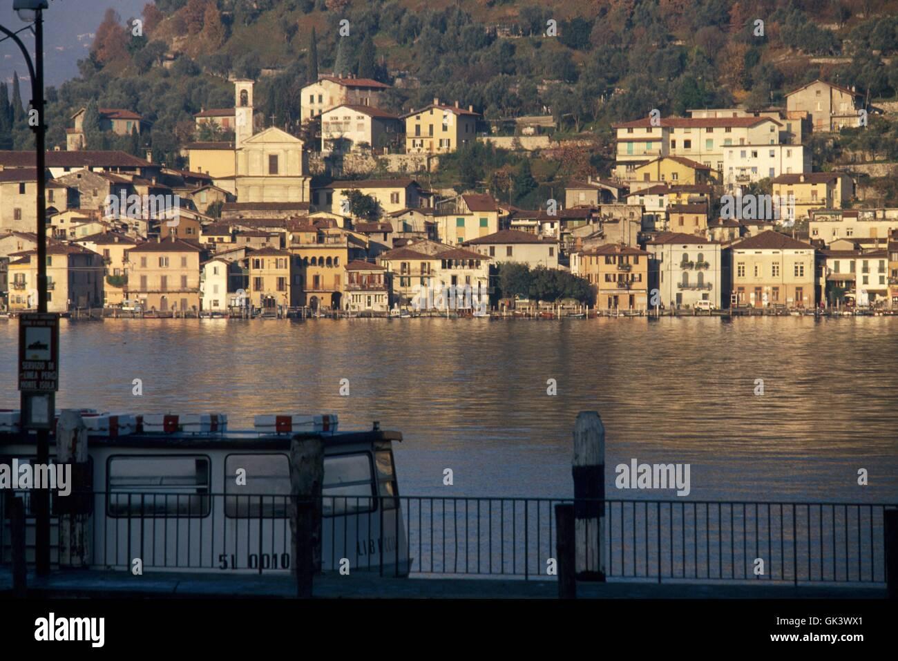 Italy, Lombardy region, Iseo lake, the Peschiera Maraglio village on Montisola island - Stock Image