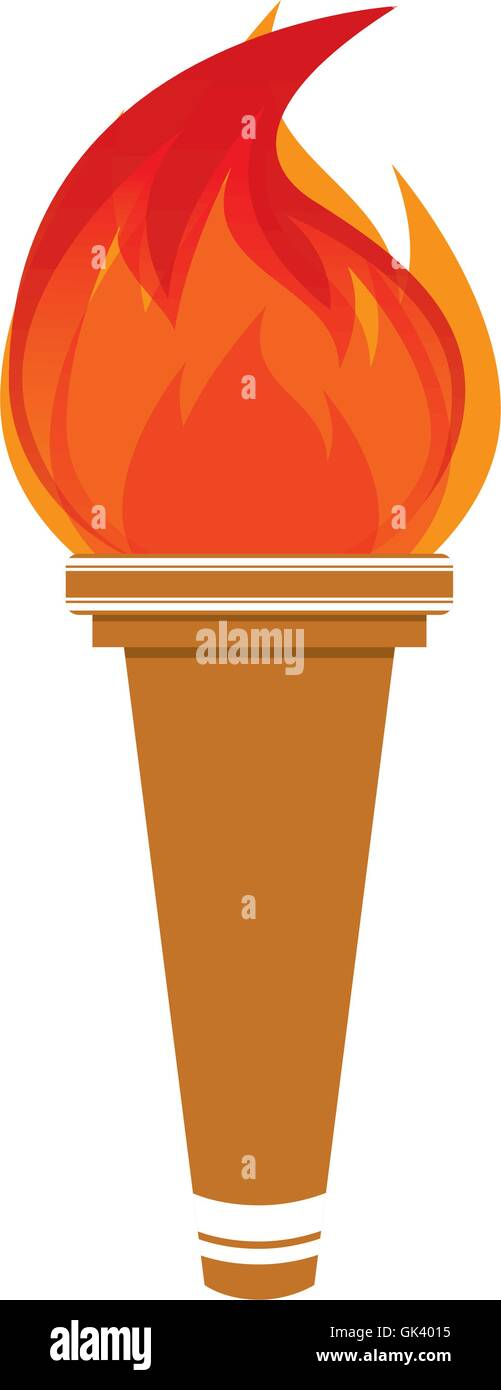 flame olimpic isolated icon - Stock Vector