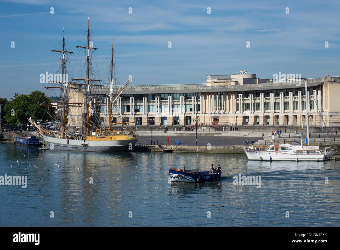 England, Bristol, Harbour & Amphitheatre - Stock Image