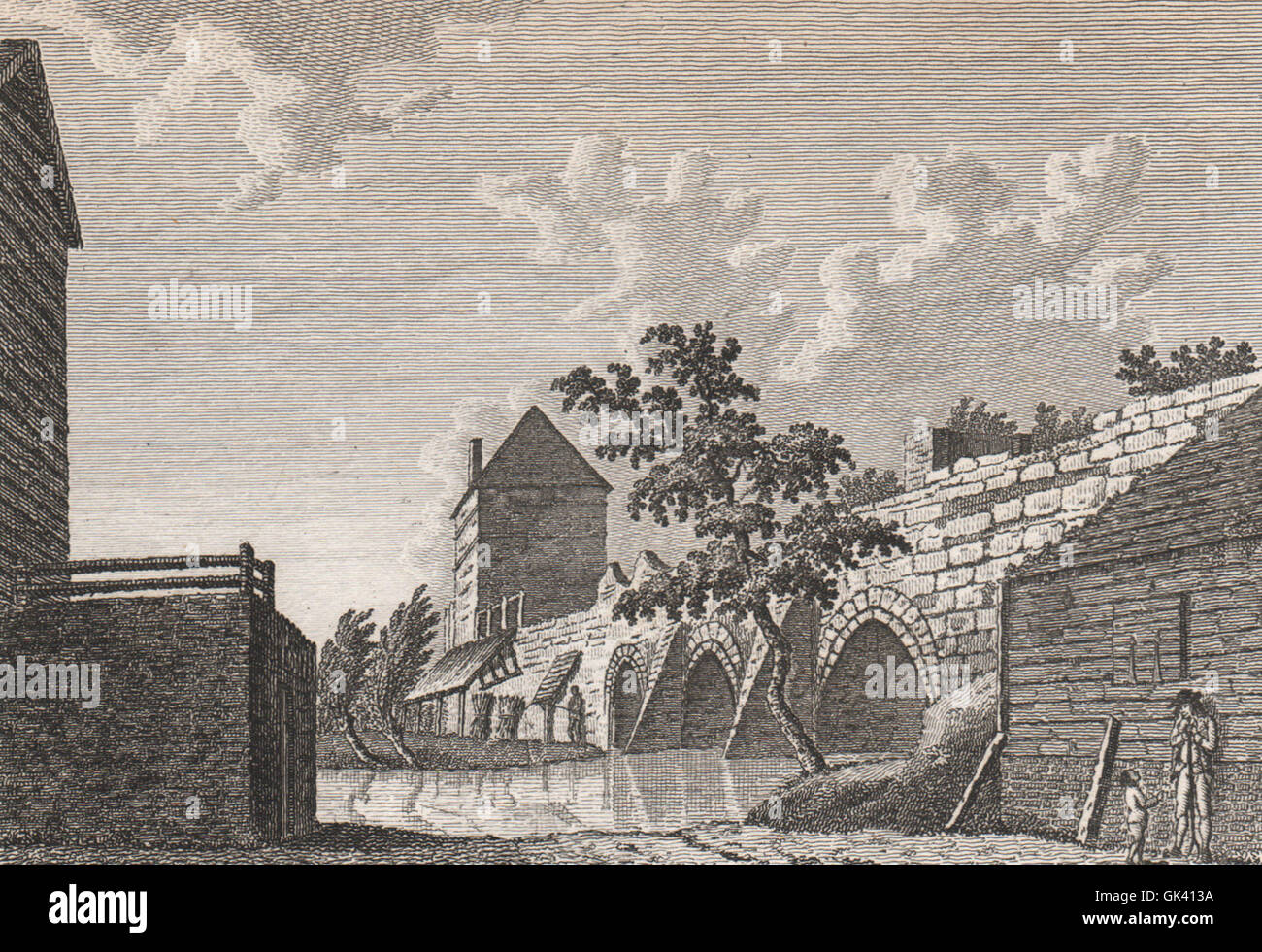 CANTERBURY. 'Arches in the town wall', demolished 1769. GOSTLING, print 1825 - Stock Image