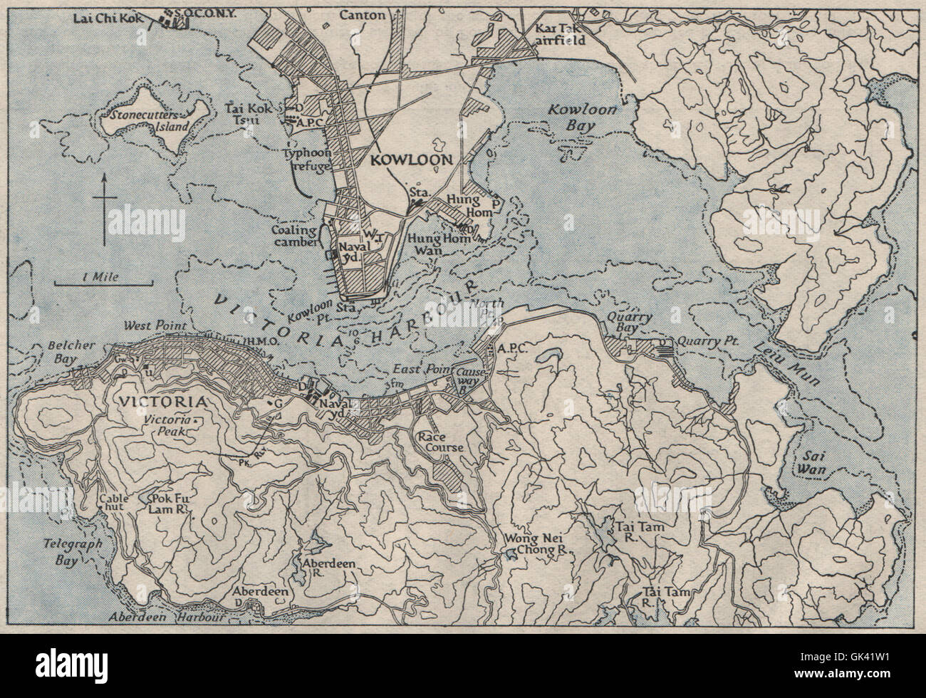 20th century world map stock photos 20th century world map stock victoria harbour hong kong china ww2 royal navy intelligence map 1945 gumiabroncs Image collections