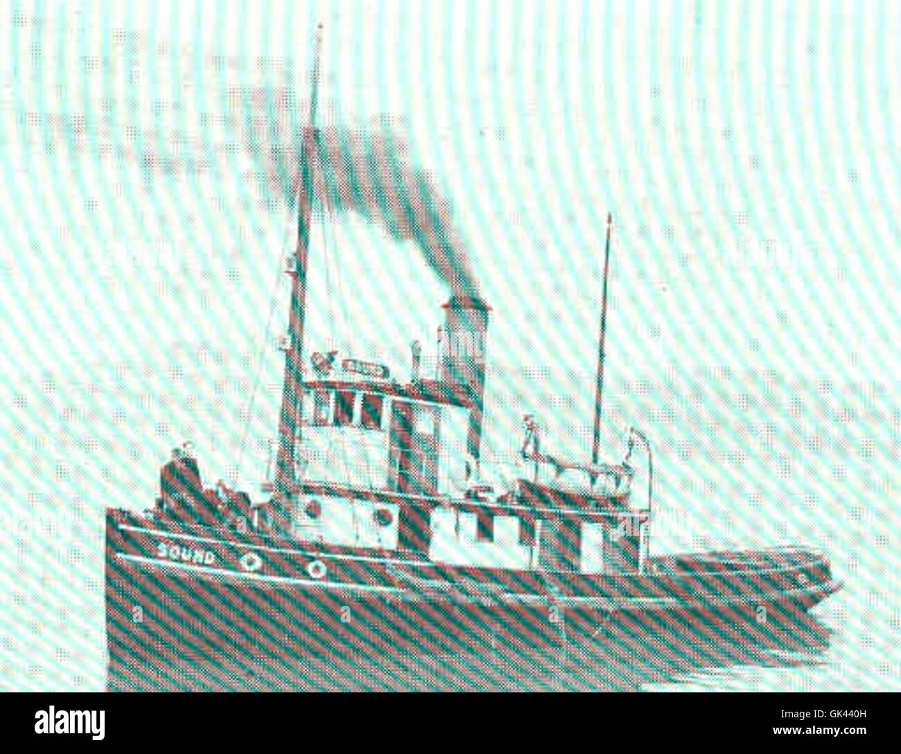 45277 Steam Tug \'Sound\' - 65 Feet Long, Almy Water Tube Boiler--250 ...