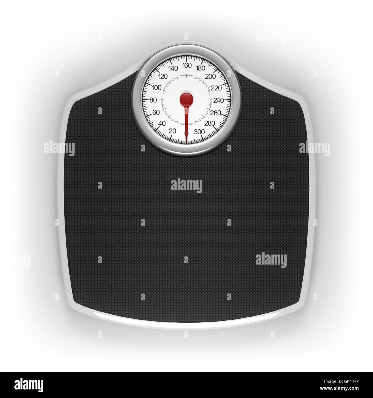 Weight scale with clipping path included. - Stock Image