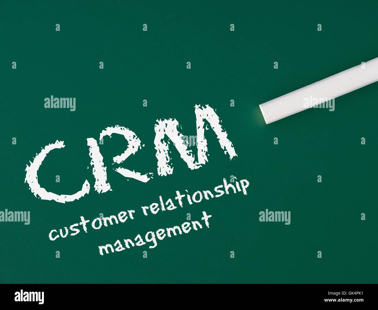 crm - customer relationship management - Stock Image