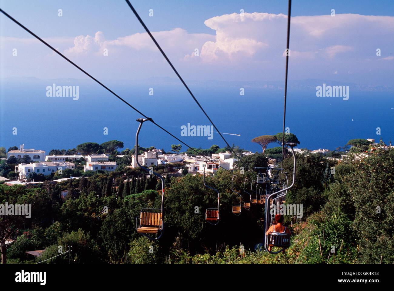 the chair lift anacapri monte solaro stock photos the chair lift