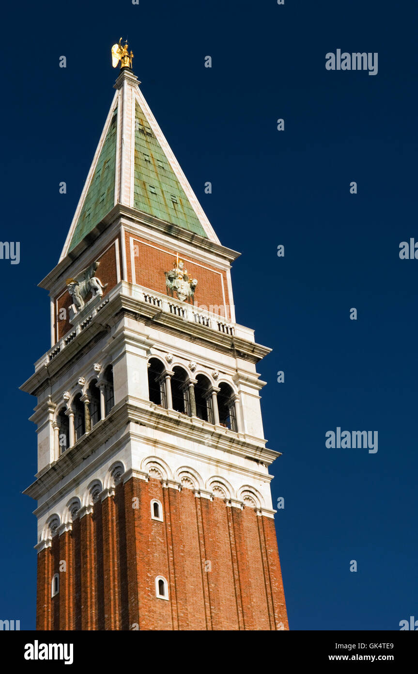 888-912, Venice, Italy --- Detail of the Campanile of San Marco --- Image by © Jeremy Horner - Stock Image