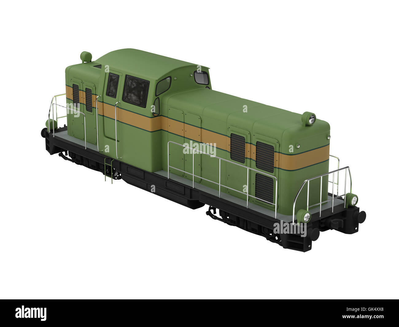railway locomotive train - Stock Image