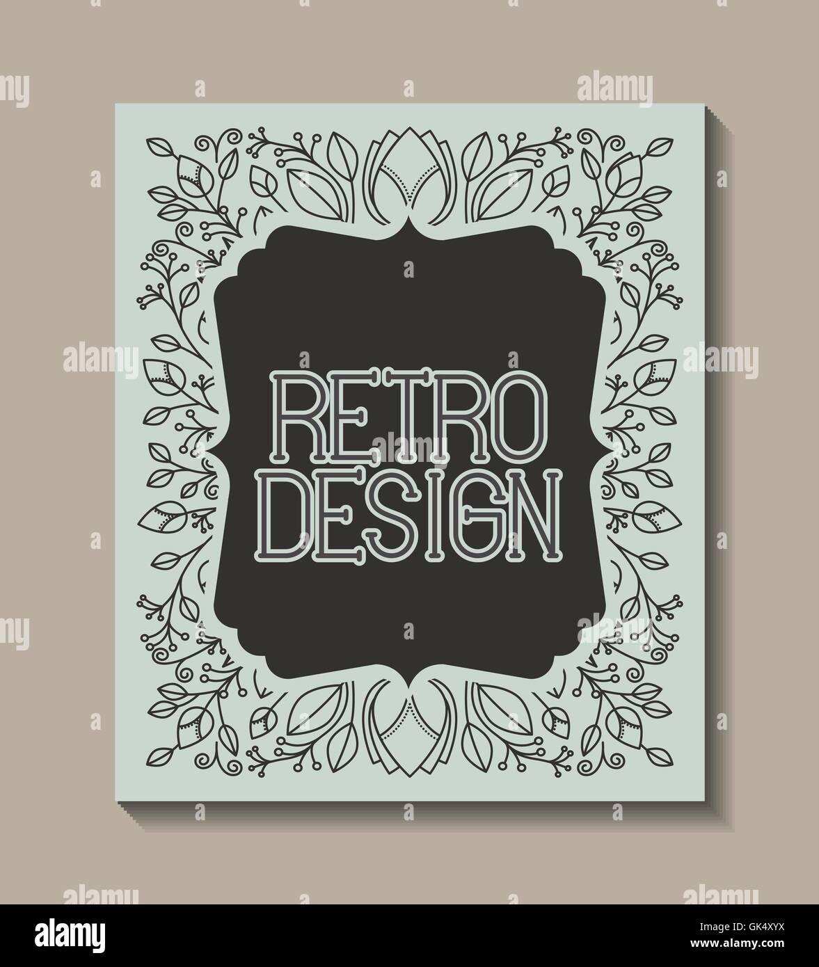 card retro vintage frame - Stock Image