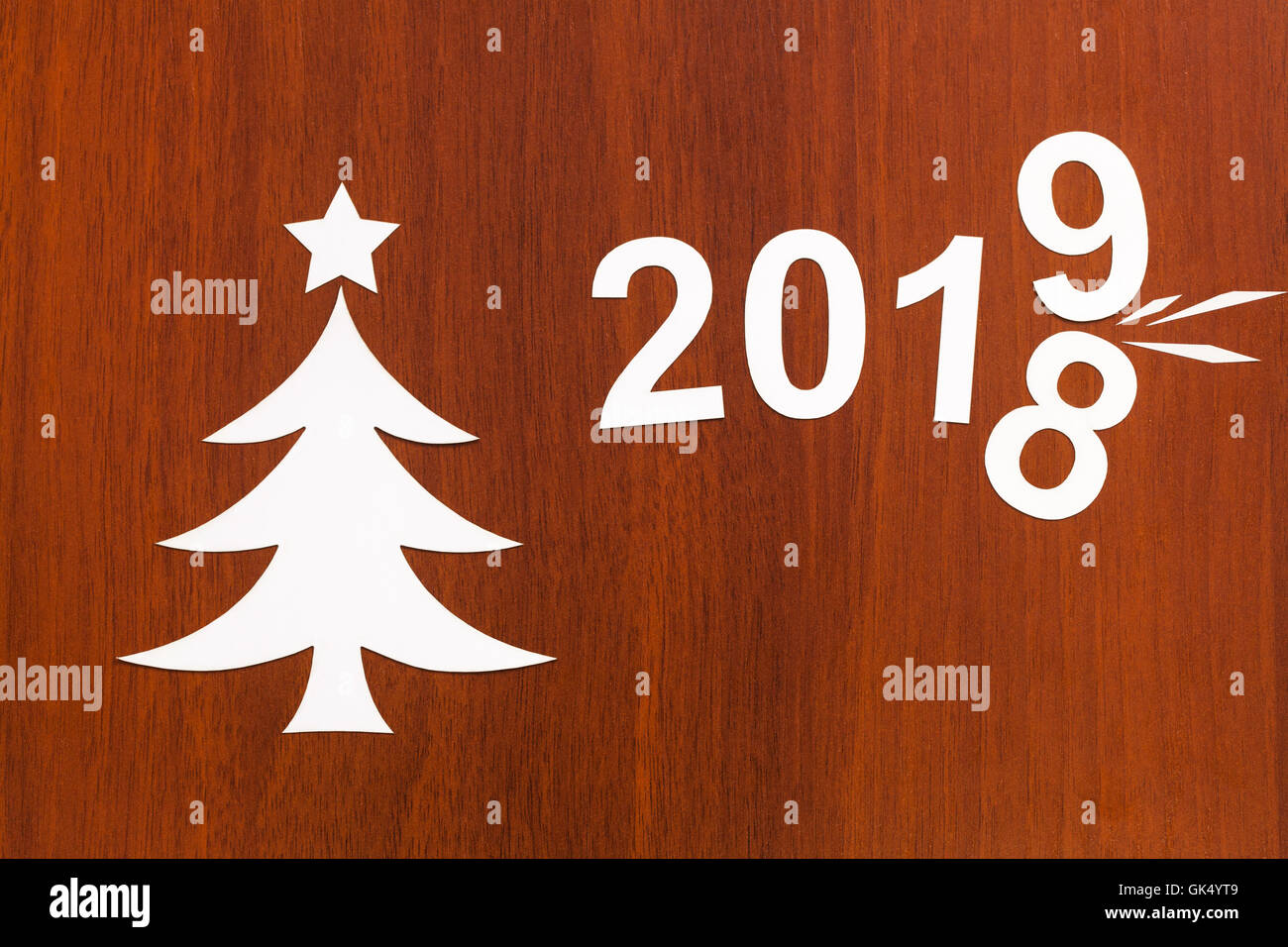 2019 Weihnachten.New Year 2019 Changes 2018 Abstract Christmas Conceptual Image